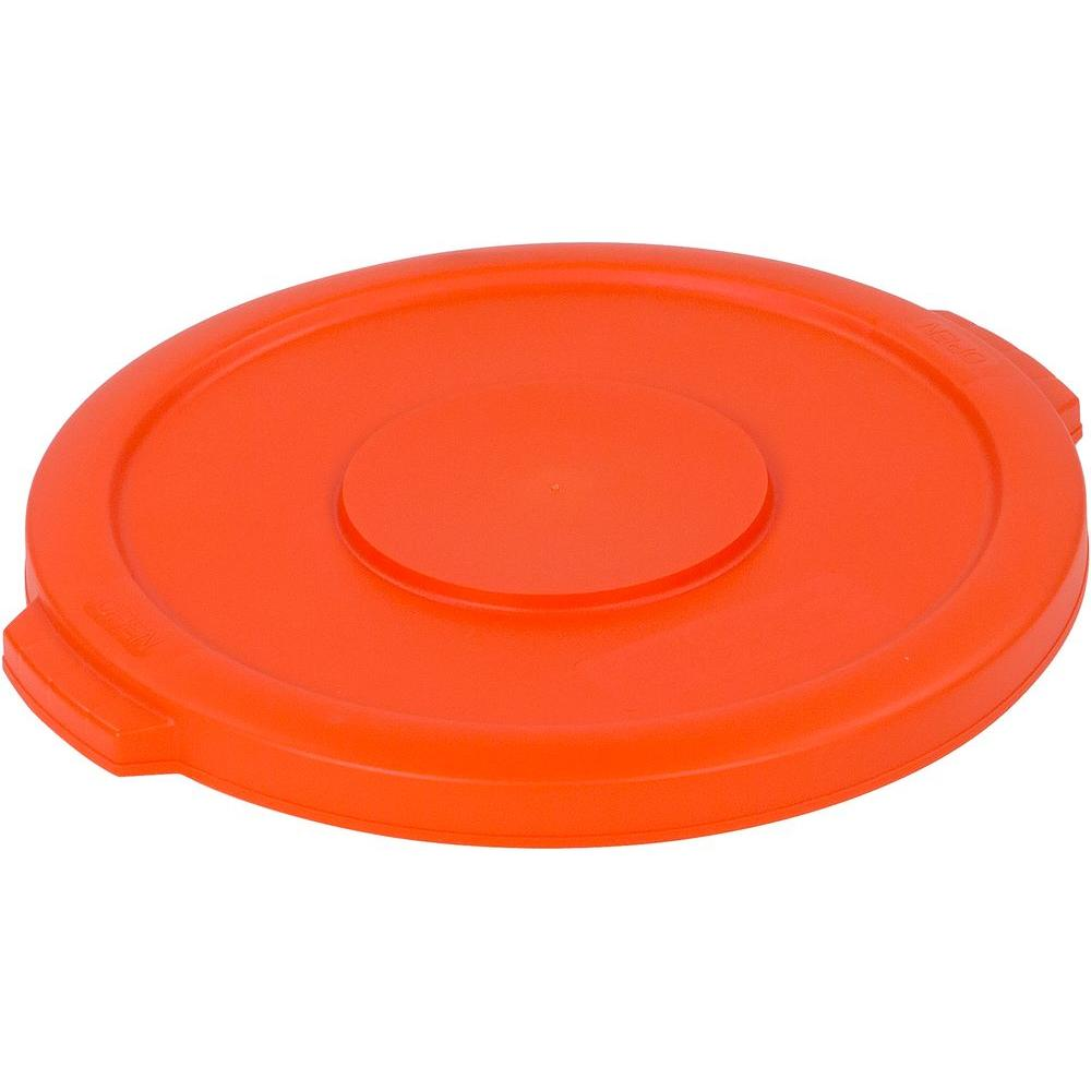 Bronco 10 Gal. Orange Round Trash Can Lid (6-Pack)