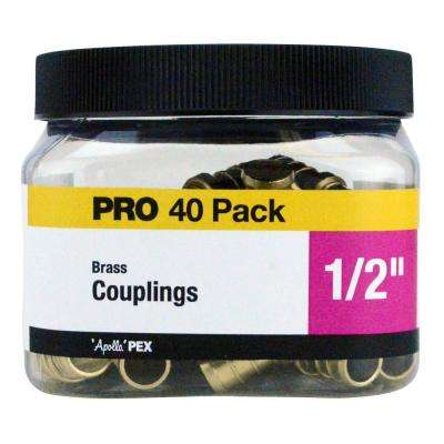 1/2 in. Brass PEX Coupling Jar (40-Pack)