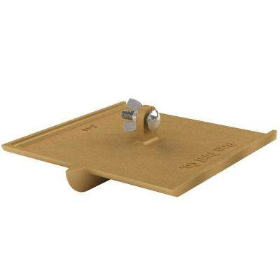 8 in. x 8 in. with a Bit Size of 3/4 in. x 1/4 in. Wide Bronze Walking Groover