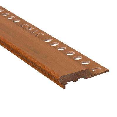 Novopeldano Maxi Wood 1/2 in. x 98-1/2 in. Composite Tile Edging Trim