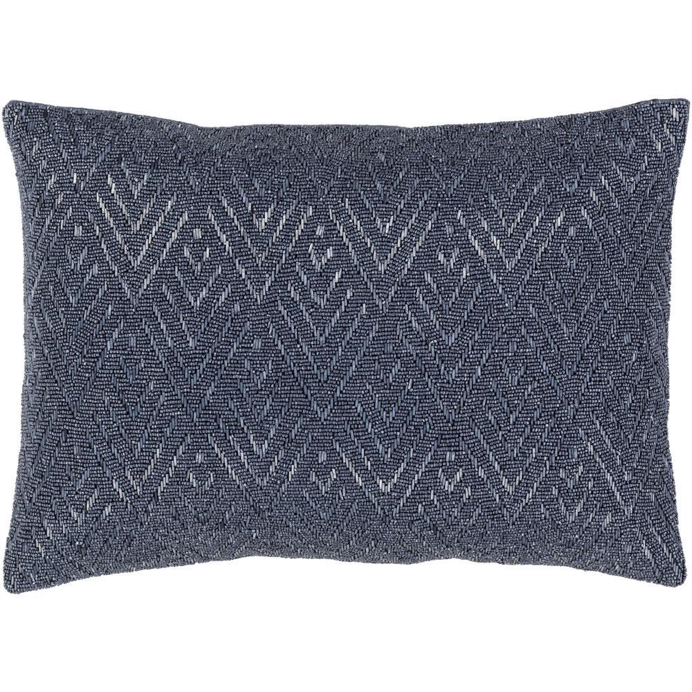 Dagnall Grey Geometric Polyester 19 in. x 19 in. Throw Pillow