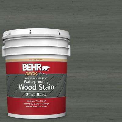 5 gal. #ST-131 Pewter Semi-Transparent Waterproofing Exterior Wood Stain