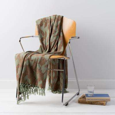Annabelle Moss Cotton Throw