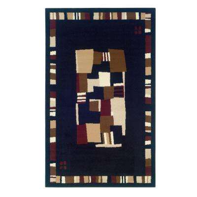 Capri Collection Black and Brown 4 ft. x 7 ft. Indoor Area Rug