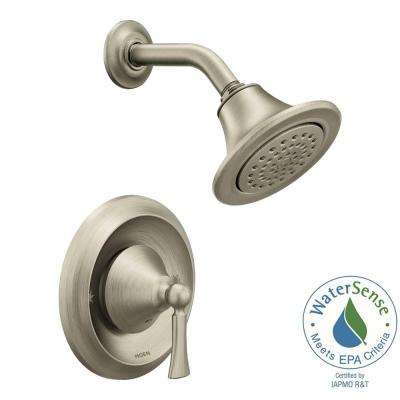Wynford Single-Handle 1-Spray Posi-Temp Shower Faucet Trim Kit in Brushed Nickel (Valve Not Included)