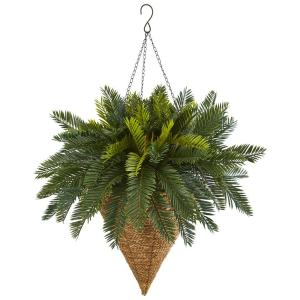 Nearly Natural Cycas Hanging Basket Artificial Plant by Nearly Natural