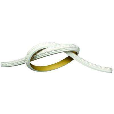 1 in. x 5/8 in. x 96 in. Ribbon Rope Flexible Polyurethane Panel Moulding Pro Pack 32 LF (4-Pack)