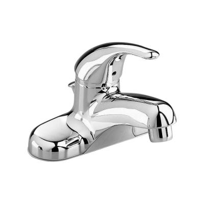 Colony Soft 4 in. Centerset Single Handle Bathroom Faucet with Non-Metal Speed Connect Pop-Up Drain in Polished Chrome
