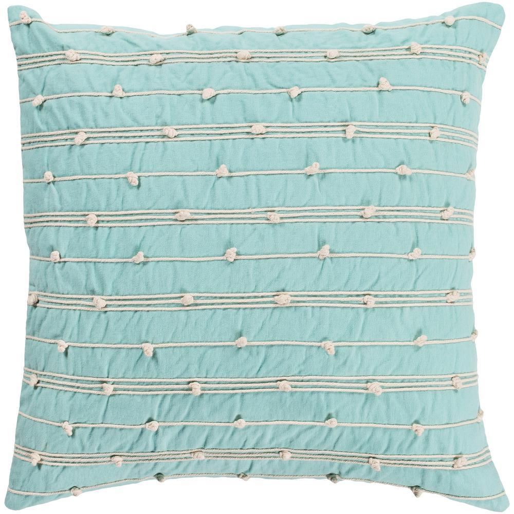 Nelhel Mt Striped Polyester 22 in. x 22 in. Throw Pillow