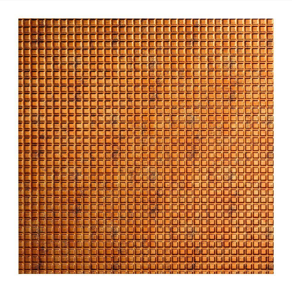 Fasade Square - 2 ft. x 2 ft. Lay-in Ceiling Tile in Muted Gold