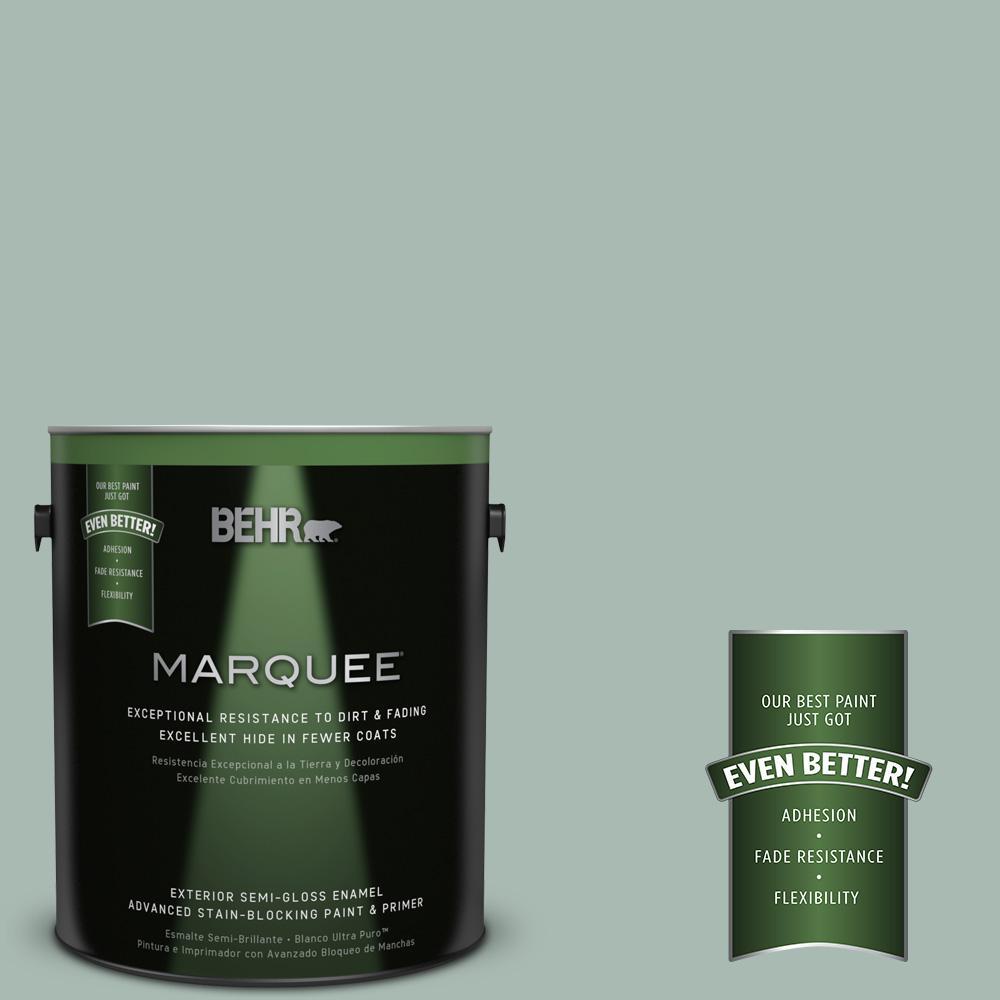 1-gal. #BXC-85 Quiet Teal Semi-Gloss Enamel Exterior Paint