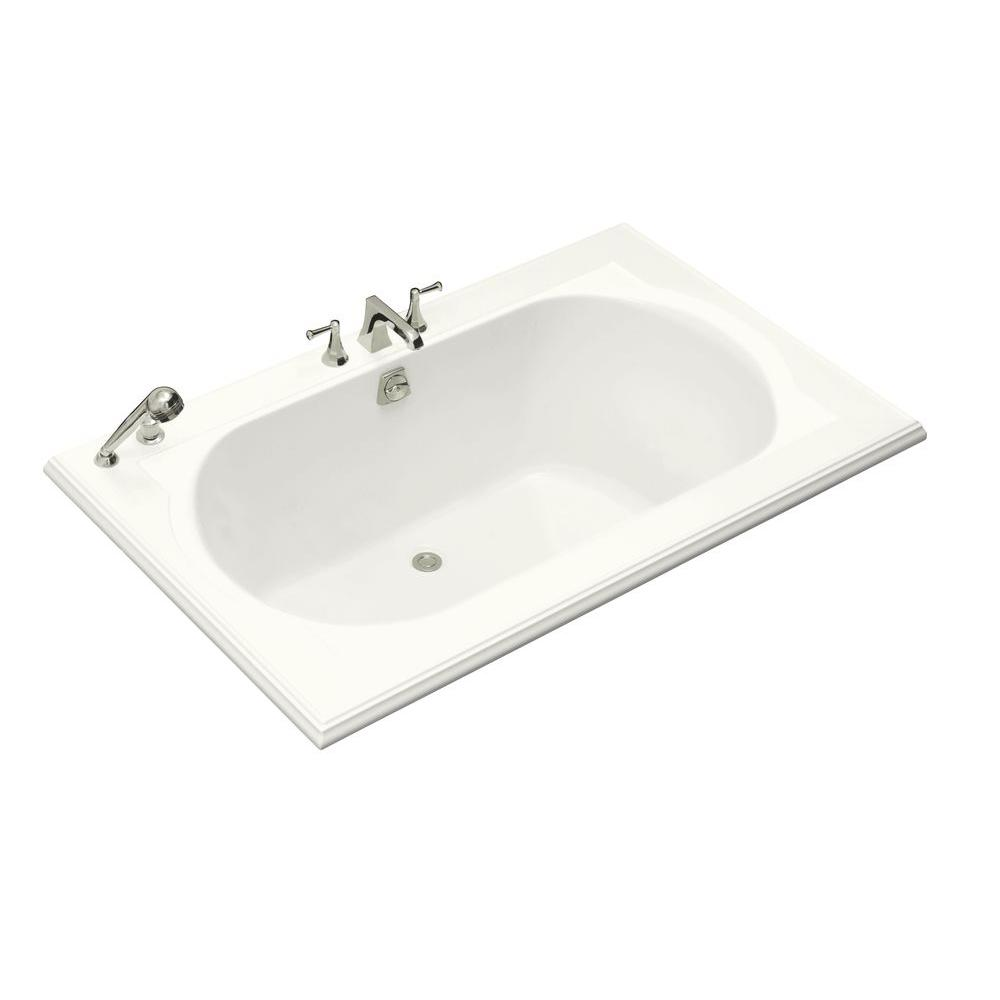 Memoirs 5.5 ft. Center Drain Drop-In Bathtub in White