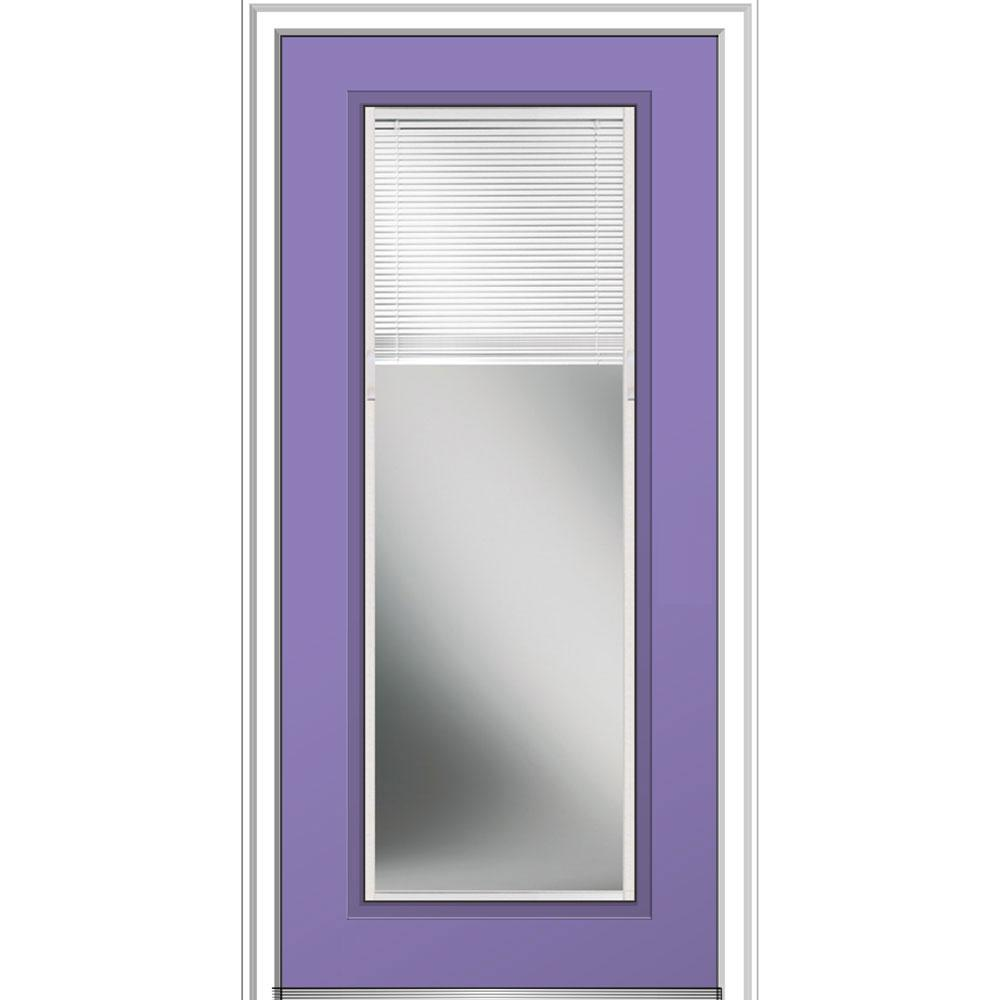 32 in. x 80 in. Internal Blinds Right-Hand Inswing Full Lite