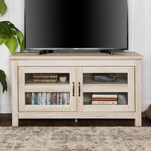 best authentic 4cb12 36eb2 Walker Edison Furniture Company 44 in. Wood TV Media Stand ...