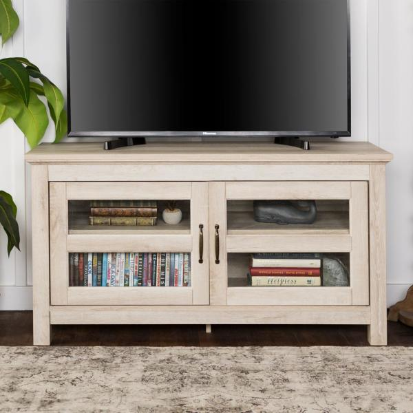 Walker Edison Furniture Company 44 in. Wood TV Media Stand Storage