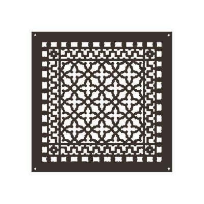 Scroll Series 18 in. x 18 in. Aluminum Grille, Oil Rubbed Bronze with Mounting Holes