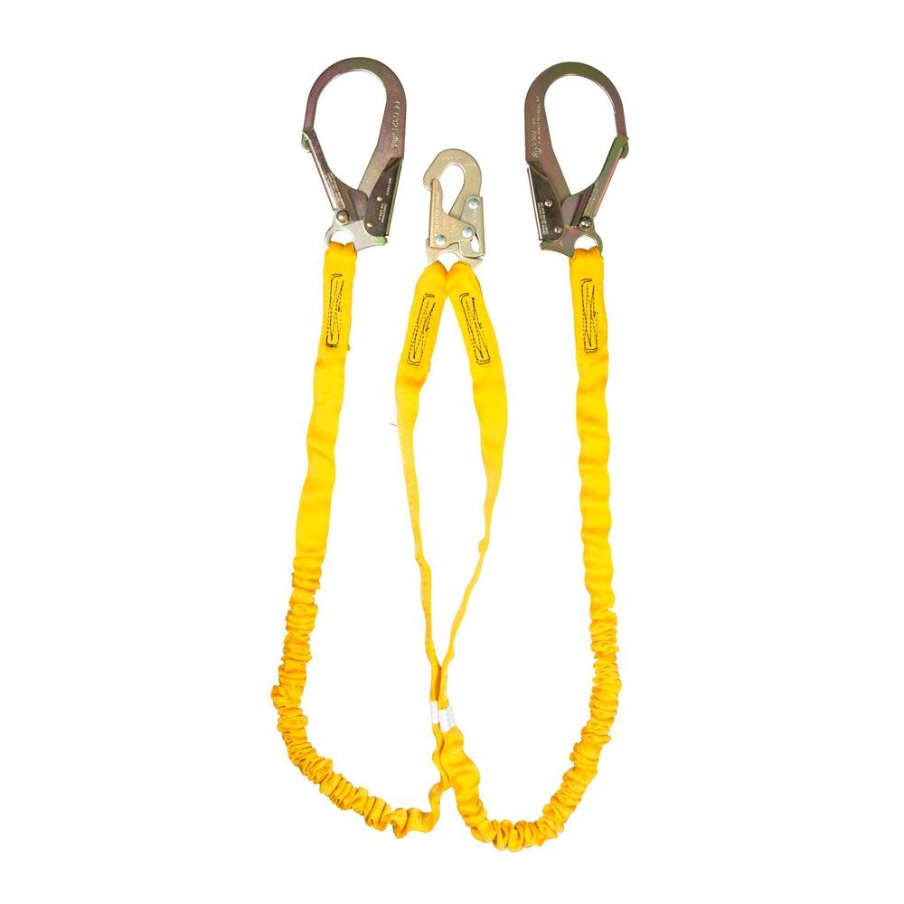 Guardian Fall Protection Internal Shock Lanyard The Guardian Fall Protection Internal Shock Lanyard is comprised of heavy duty outer polyester webbing, with a polyester core specifically designed to reduce the impact forces resulting from a fall. Because the shock absorption is built directly into the lanyard there is no need for an external shock absorber, making the Internal Shock Lanyard a particularly lightweight option.
