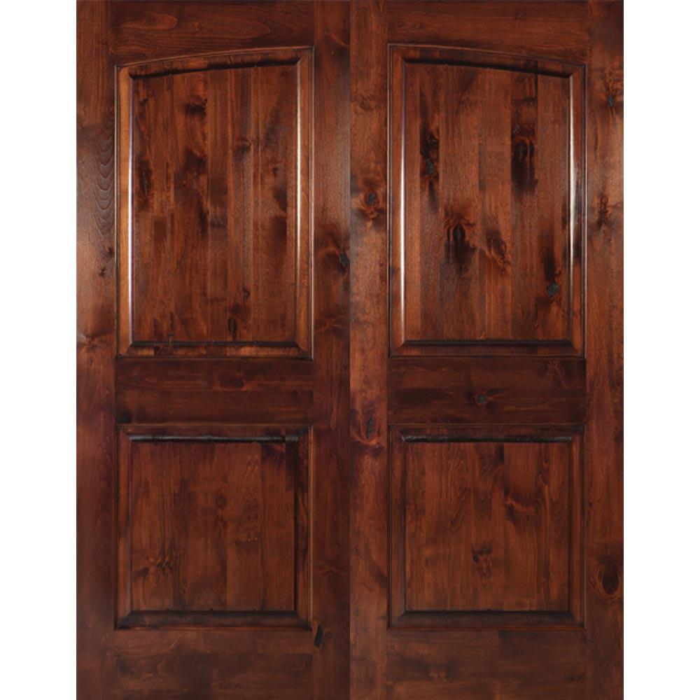 Krosswood Doors 30 In X 80 In Rustic Knotty Alder 2: Krosswood Doors 72 In. X 80 In. Rustic Knotty Alder 2