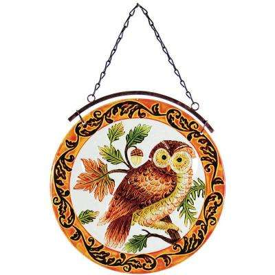 12 in. Glass Sun-Catcher Owl