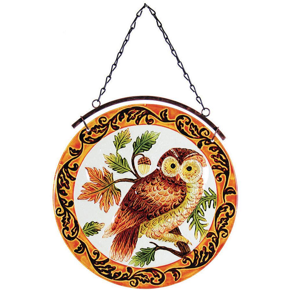 12 in. Glass Sun-Catcher Owl