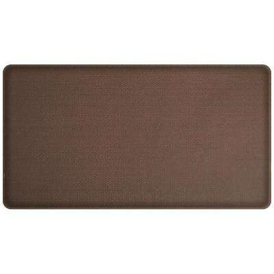 Classic Rattan Redwood 20 in. x 36 in. Comfort Kitchen Mat