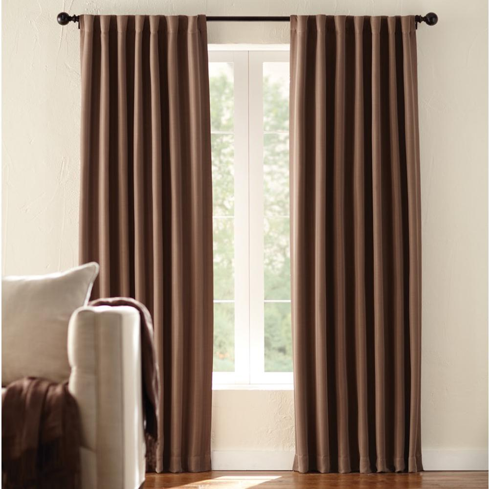 Room Darkening Window Panel In Mocha 54 W X 84 L