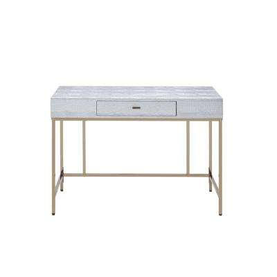 Piety Champagne and Silver Desk