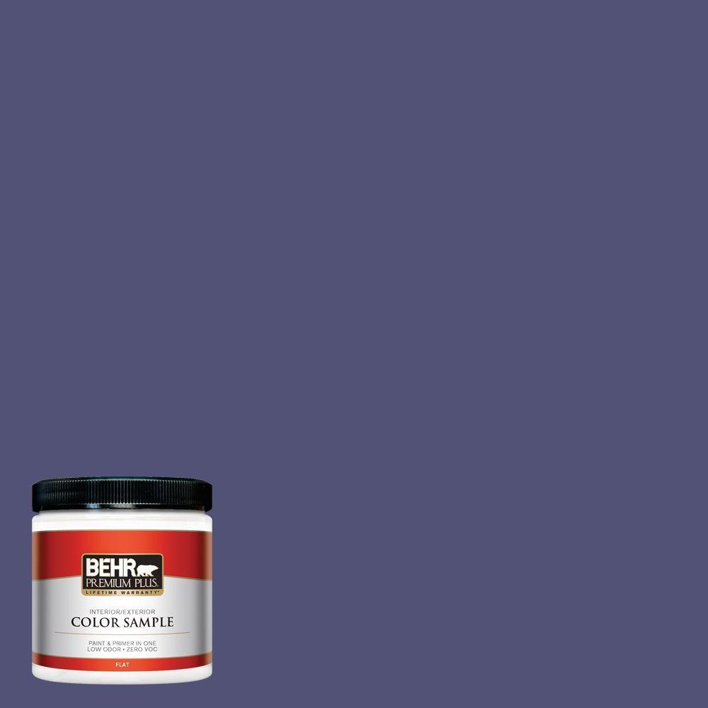 BEHR Premium Plus 8 oz. #630D-7 Deep Orchid Interior/Exterior Paint Sample
