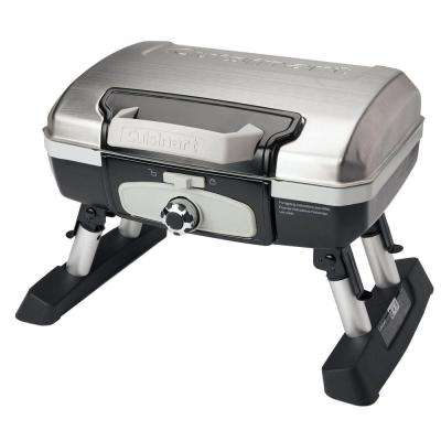 Petit Gourmet 1-Burner Tabletop Portable Propane Gas Grill in Stainless