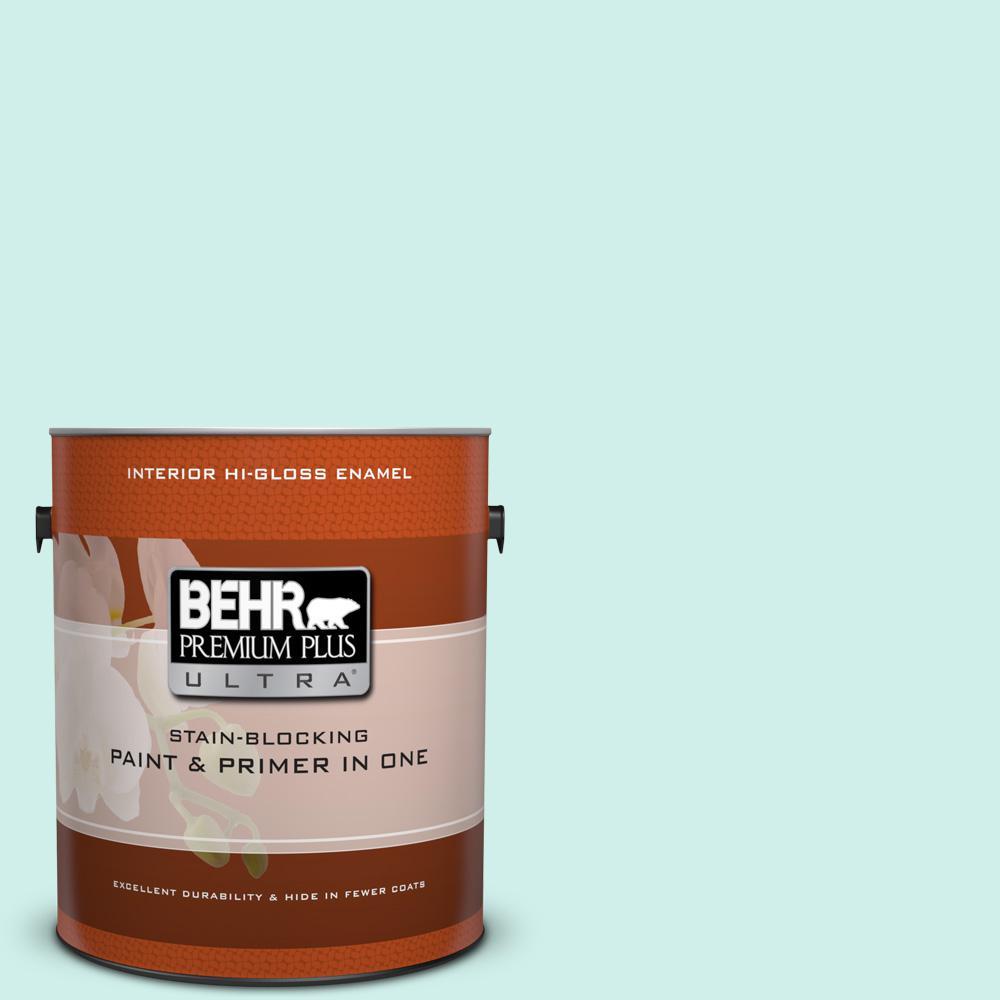 1 gal. #490A-1 Teal Ice Hi-Gloss Enamel Interior Paint