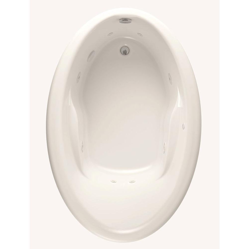 Starla 5 ft. Reversible Drain Acrylic Whirlpool Bath Tub in White