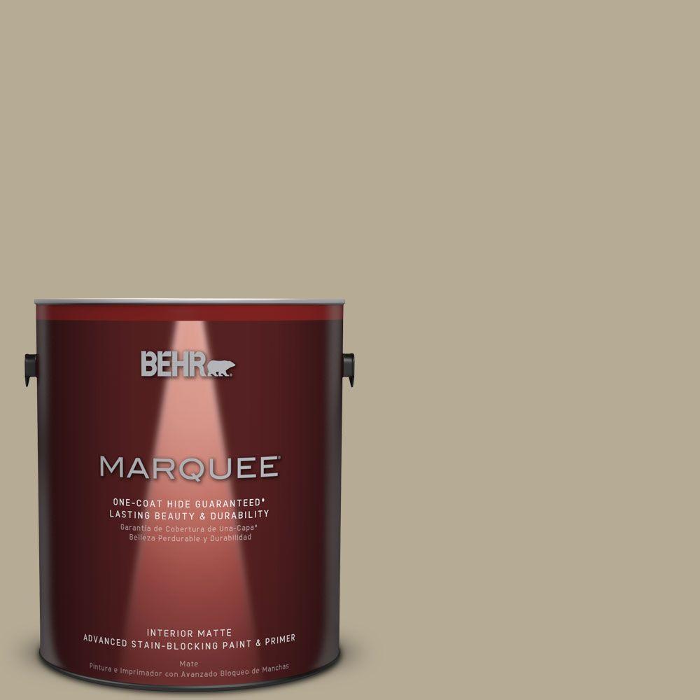 1 gal. #N330-4 Explorer Khaki One-Coat Hide Matte Interior Paint