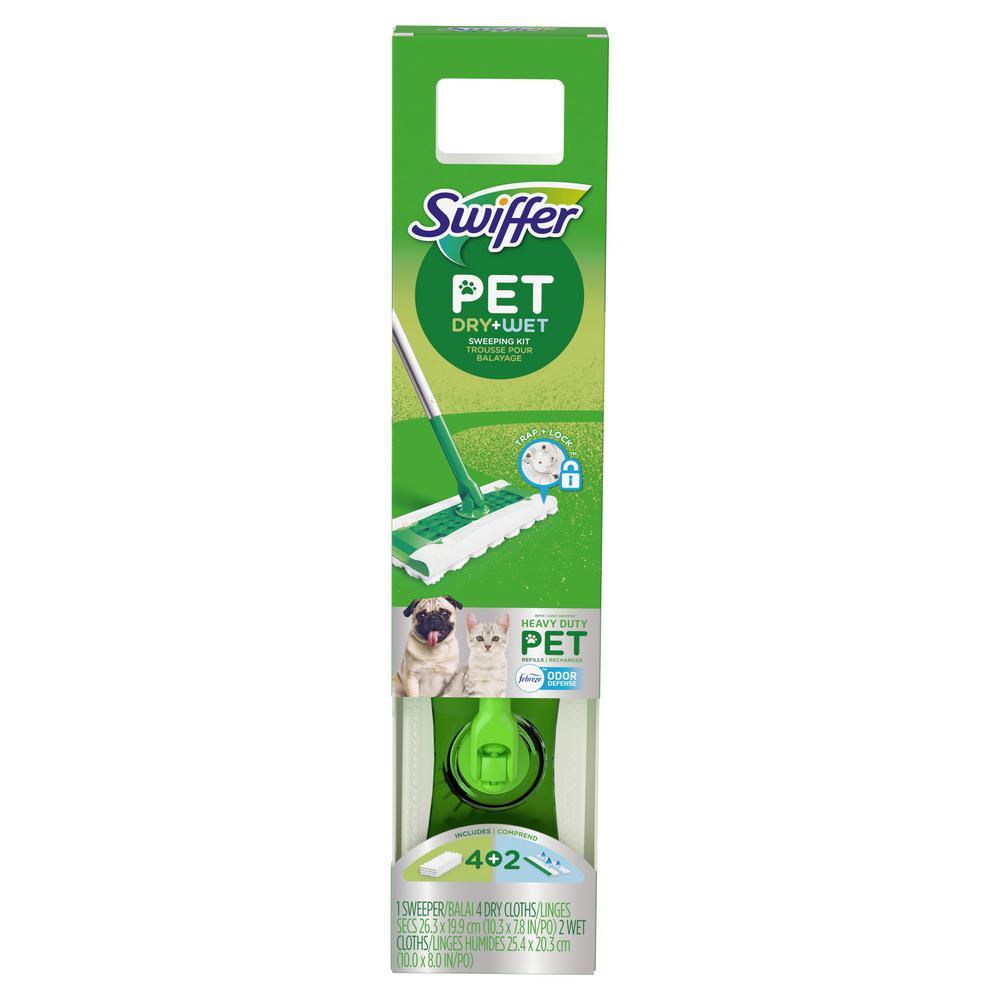 Swiffer Heavy Duty Pet Wet Dry Floor Mopping Cleaning Starter Kit