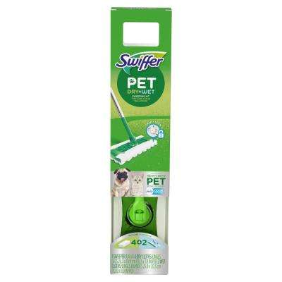 Heavy Duty Pet Wet\Dry Floor Mopping Cleaning Starter Kit (1 Mop and 4 pads)