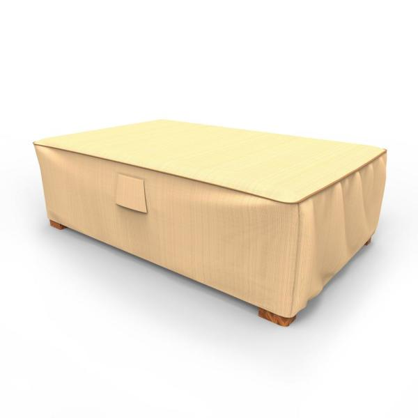 Rust-Oleum NeverWet Large Tan Outdoor Patio Ottoman Cover/Coffee Table Cover