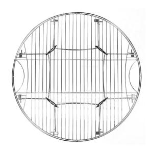 Mr Bar B Q Round Large Metal Cooking Grate with Folding Legs by Mr Bar B Q