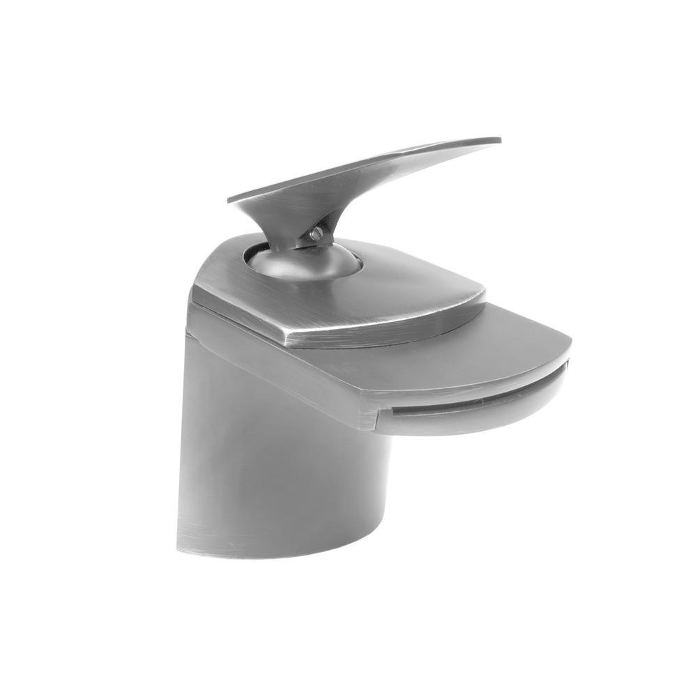 Wave Single Hole Single-Handle Bathroom faucet with ...