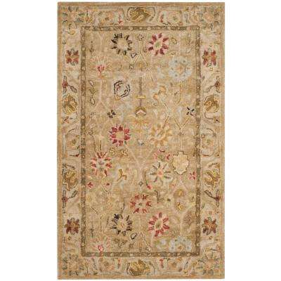 Antiquity Taupe/Beige 3 ft. x 5 ft. Area Rug