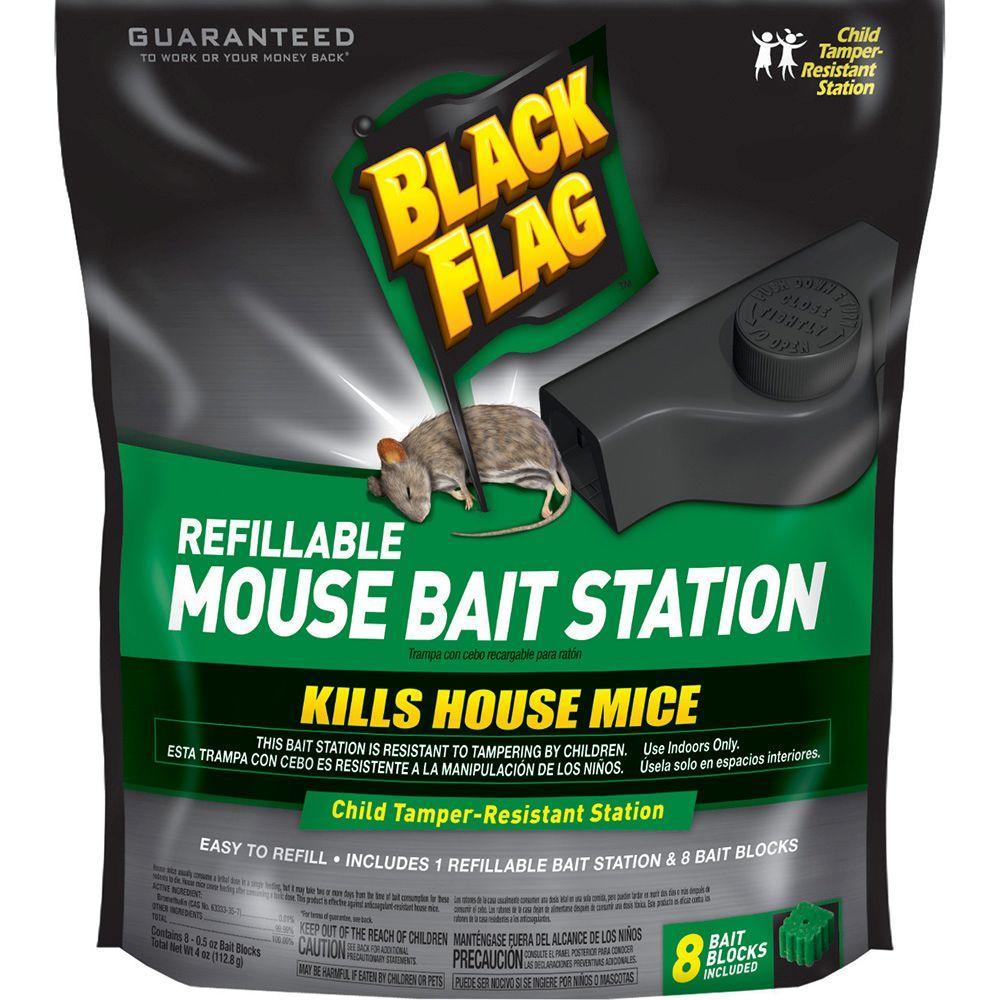 Refillable Mouse Bait Station (8-Blocks)