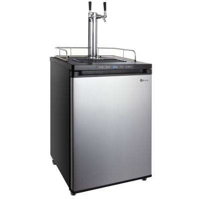 Dual Tap Stainless Steel Digital Kegerator