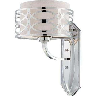 Amelia 1-Light Polished Nickel Sconce