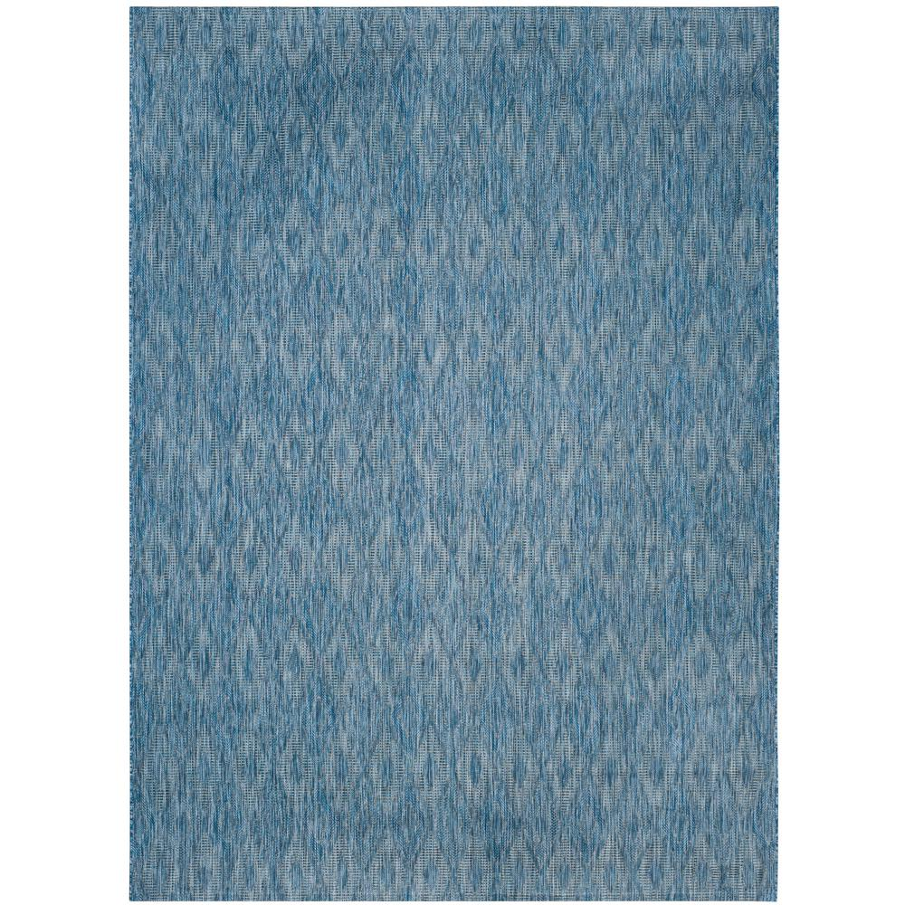 Courtyard Navy 8 ft. x 11 ft. Indoor/Outdoor Area Rug