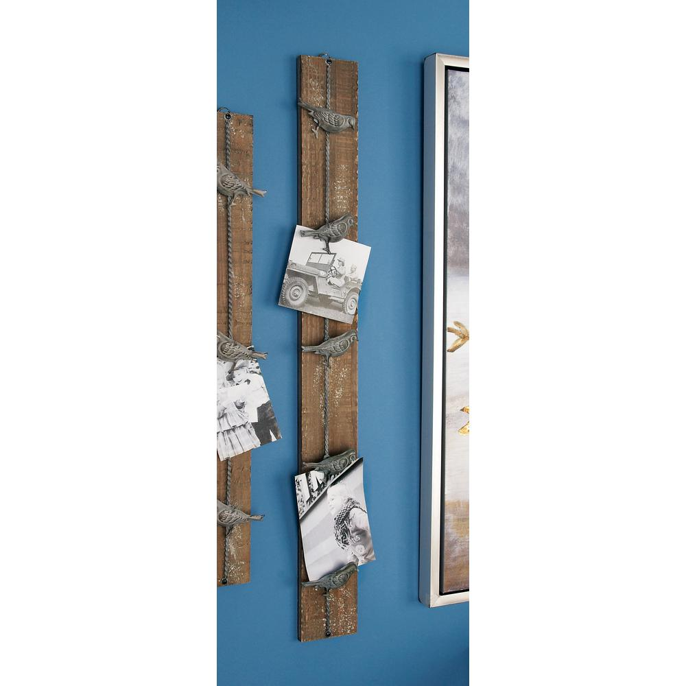 3 in. W x 36 in. H Distressed Brown Wood and