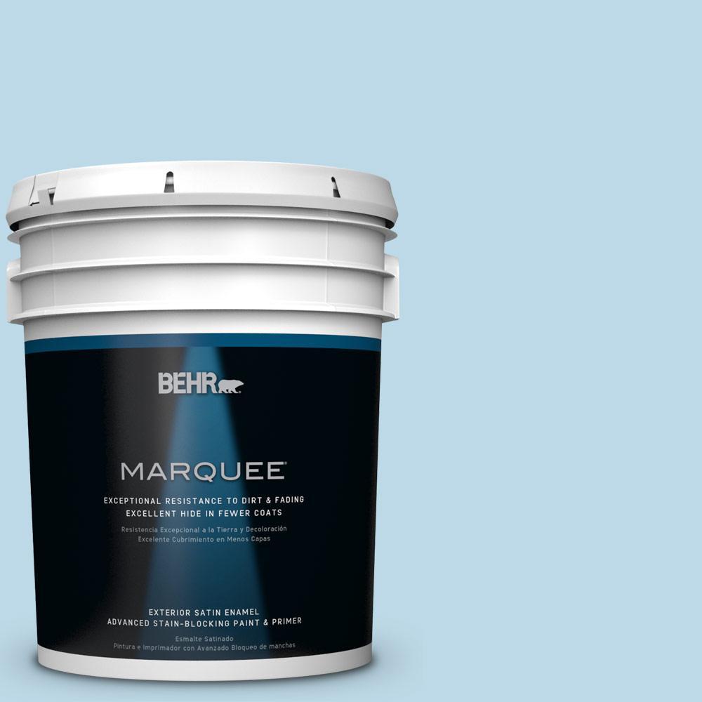 5-gal. #M500-1 Tinted Ice Satin Enamel Exterior Paint