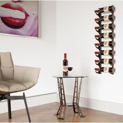 Eagle Edition 8-Bottle Wall Mounted Wine Rack Single Row