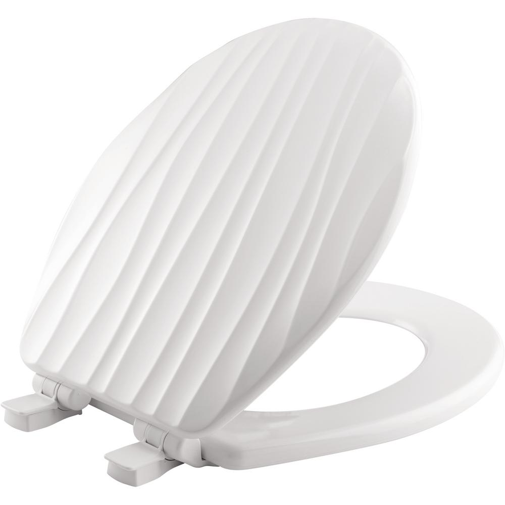 BEMIS STA-TITE Slow Close Lift-Off Sculptured Round Closed Front Toilet Seat in White