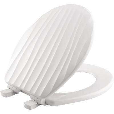 STA-TITE Slow Close Lift-Off Sculptured Round Closed Front Toilet Seat in White