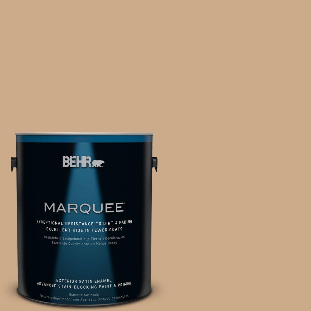 BEHR MARQUEE 1-gal. #N280-4 Perfect Tan Satin Enamel Exterior Paint