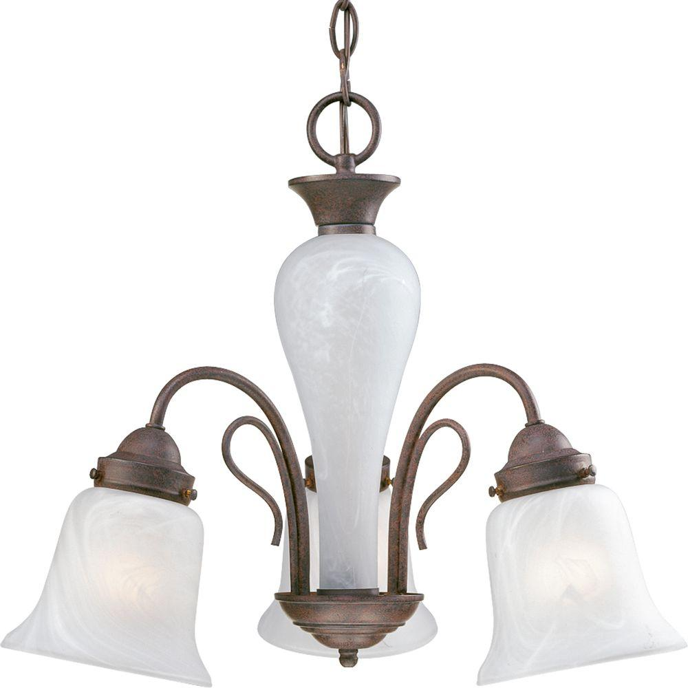 Progress Lighting Bedford Collection Cobblestone 3-light Chandelier-DISCONTINUED