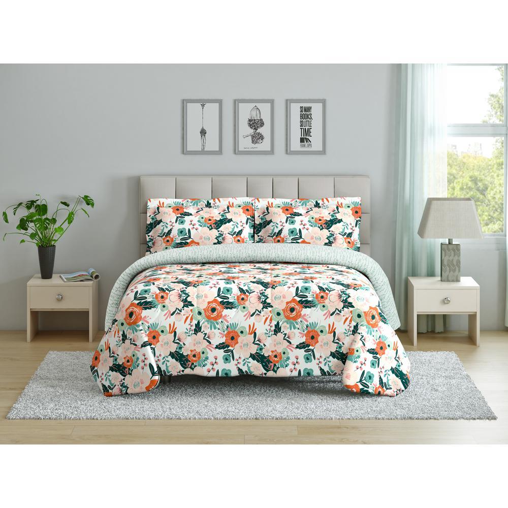 Cambridge (Floral) Full/Queen Comforter Set CS11374FQCMFL